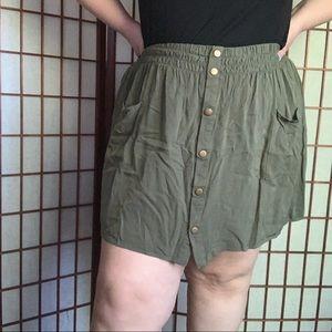 Military Style Skater Skirt